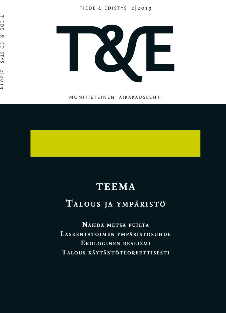 Näytä Nro 2 (2019): Talous ja ympäristö
